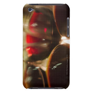 Close-up view of red wine glasses barely there iPod case
