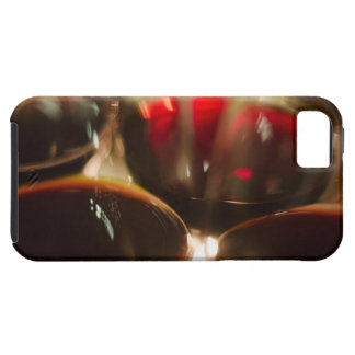Close-up view of red wine glasses iPhone 5 case