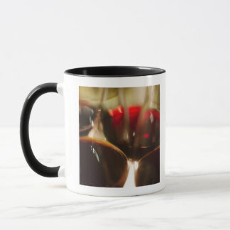 Close-up view of red wine glasses mug