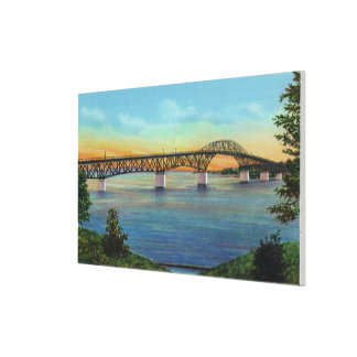Close-up View of the New Bridge Canvas Print