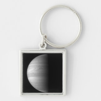 Close-up view of the planet Jupiter Silver-Colored Square Key Ring