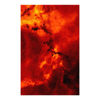 Close Up View of the Rosette Nebula Caldwell 49 Customized Stationery