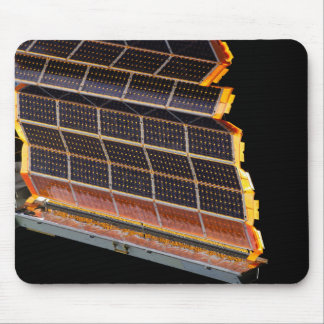 Close-up view of the solar arrays mouse pad
