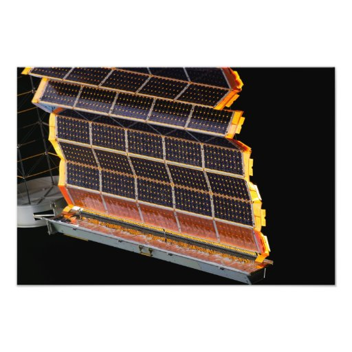 Close-up view of the solar arrays photographic print