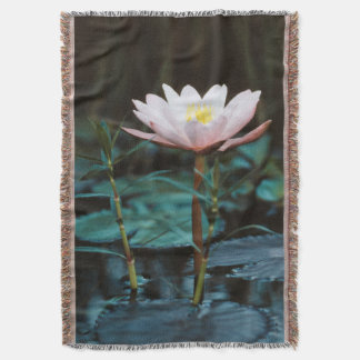 Close-Up view of Water Lily at Inle Lake Throw Blanket
