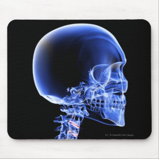 Close up x-ray of the bones in the neck mouse mat