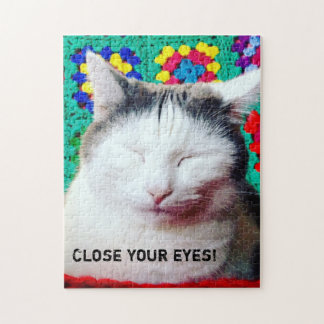 Close your eyes! puzzle