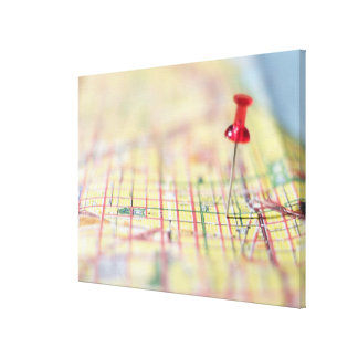 closed 151 maps maps map pins canvas print