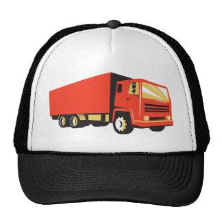closed delivery van truck retro cap