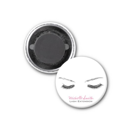 Closed eyes long lashes lash extension magnet