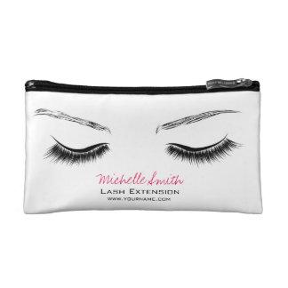 Closed eyes long lashes lash extension makeup bags