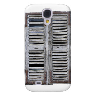 Closed window with old wood shutters galaxy s4 case