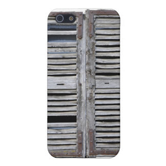 Closed window with old wood shutters case for the iPhone 5
