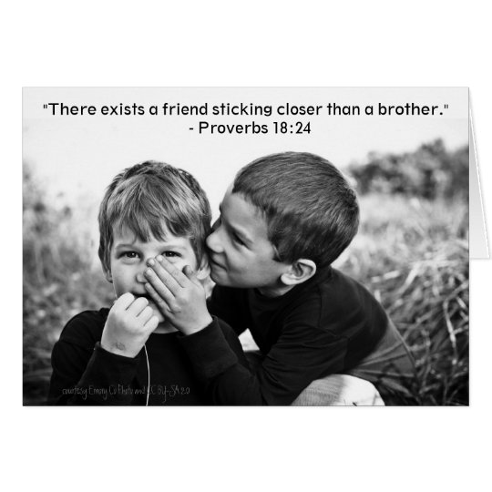 Closer Than a Brother Card