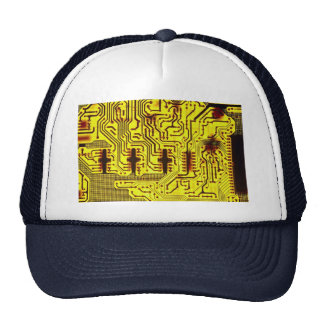 Closer view of circuit board pathways cap