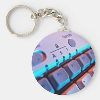 Closer view of computer keyboard key chain