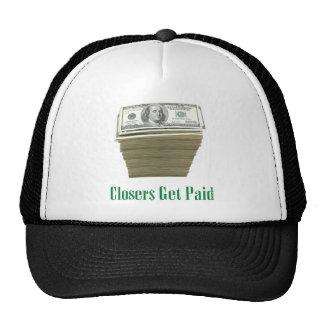 Closers Get Paid Money Design Mesh Hats