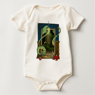 Closet Monster Illustration by Daily Undead Baby Bodysuit