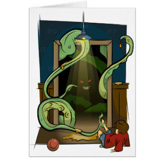 Closet Monster Illustration by Daily Undead Card
