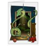 Closet Monster Illustration by Daily Undead Greeting Card