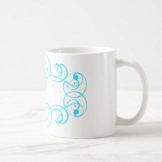 Closet of Free Samples Blue Line Basic White Mug