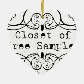 Closet of Free Samples Ceramic Heart Decoration