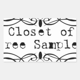 Closet of Free Samples Rectangular Sticker