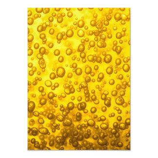 Closeup Beer Bubbles 11 Cm X 16 Cm Invitation Card