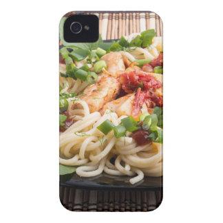 Closeup black plate with spaghetti iPhone 4 case