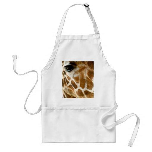 Closeup Giraffe Face Wild Animals Nature Photo Apron