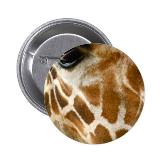 Closeup Giraffe Face Wild Animals Nature Photo Button