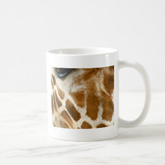 Closeup Giraffe Face Wild Animals Nature Photo Basic White Mug