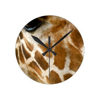 Closeup Giraffe Face Wild Animals Nature Photo Clocks
