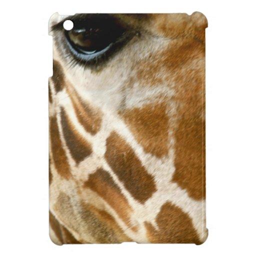 Closeup Giraffe Face Wild Animals Nature Photo iPad Mini Cases