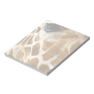 Closeup Giraffe Face Wild Animals Nature Photo Memo Note Pad