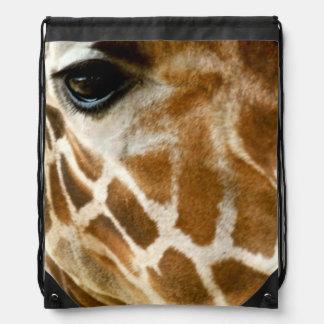 Closeup Giraffe Face Wild Animals Nature Photo Cinch Bag