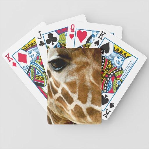 Closeup Giraffe Face Wild Animals Nature Photo Bicycle Card Decks
