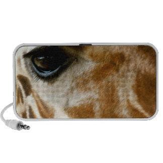 Closeup Giraffe Face Wild Animals Nature Photo Laptop Speakers