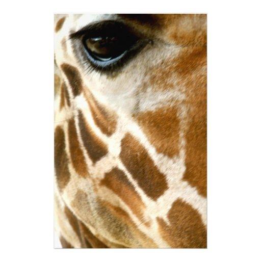 Closeup Giraffe Face Wild Animals Nature Photo Custom Stationery
