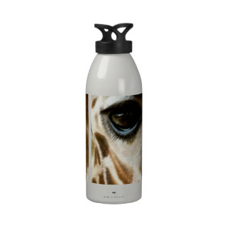 Closeup Giraffe Face Wild Animals Nature Photo Drinking Bottles