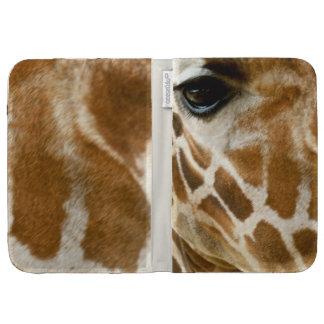 Closeup Giraffe Face Wild Animals Photo Kindle Folio Case