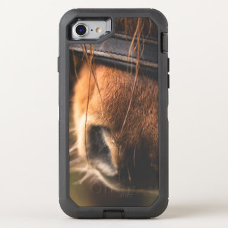 Closeup of a Cute Brown Horse Nose OtterBox Defender iPhone 8/7 Case