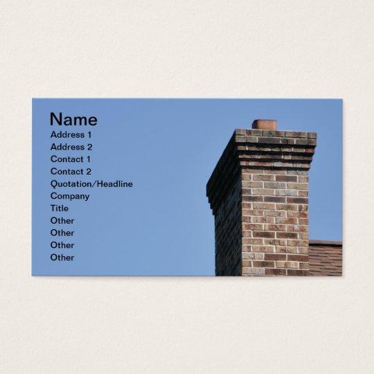 closeup of a modern brick chimney business card