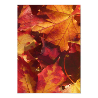 Closeup of Autumn Leaves Magnetic Invitations