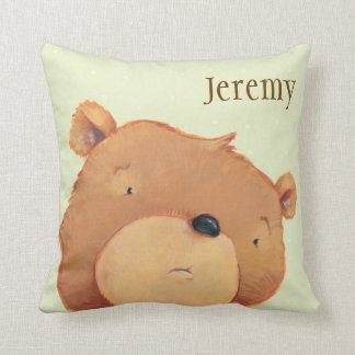 CloseUp of Big Brown Bear Cushion