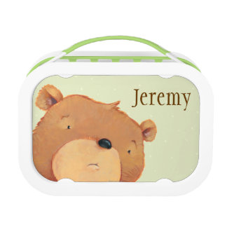 CloseUp of Big Brown Bear Lunch Boxes
