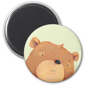 CloseUp of Big Brown Bear Magnet