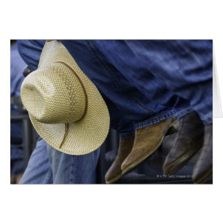 Closeup of Boots & Hat Greeting Card