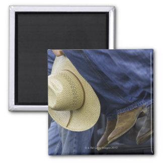 Closeup of Boots & Hat Magnet