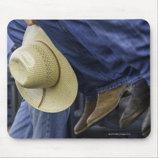 Closeup of Boots & Hat Mouse Pad